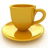 gelbes Cup 3d Lizenzfreie Stockfotografie