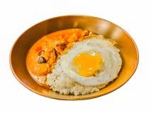 Gelbes Curry-Hühnerisolat stockbild