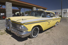 1958 gelbes Edsel Lizenzfreies Stockbild
