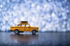Gelbes Fahrerhaus Stockfoto