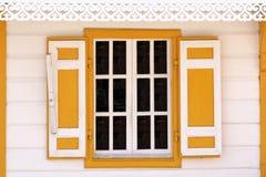 Gelbes Fenster Stockbild
