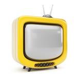 Gelbes Fernsehen Stockfotografie