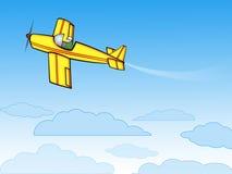 Gelbes Flugzeug Lizenzfreies Stockbild