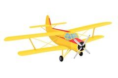 Gelbes Flugzeug des Vektors Stockbild