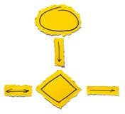 Gelbes Flussdiagramm Lizenzfreie Stockbilder