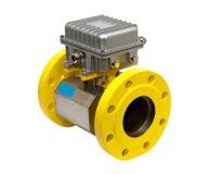Gelbes Gasmeßinstrument stockbilder