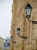 Gelbes Gebäude lizenzfreie stockbilder