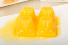 Gelbes Gelee Stockbild