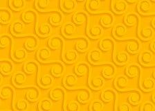 Gelbes geometrisches Papiermuster, abstrakte Hintergrundschablone für Website, Fahne, Visitenkarte, Einladung Stockbild
