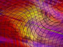 Gelbes Glühen, abstrakter Hintergrund lizenzfreie abbildung