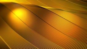 Gelbes Goldgitter-Zusammenfassungs-Hintergrund stock footage