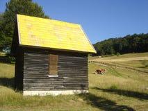 Gelbes Haus Stockfotos