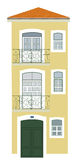 Gelbes Haus Lissabon Lizenzfreies Stockbild