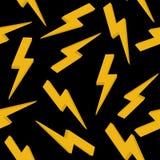 Gelbes Hochspannungszeichen Nahtloses Muster Stockfotos