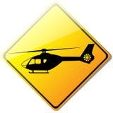 Gelbes Hubschrauber- oder Landeplatz-Zeichen stock abbildung