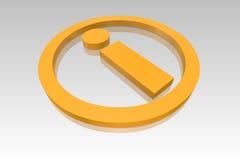Gelbes Informations-Symbol lizenzfreie abbildung