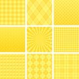 Gelbes Karomuster stock abbildung