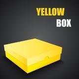 Gelbes Kastendesign des Pakets Stockbild