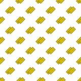 Gelbes Kino des Vektors etikettiert nahtloses Muster Stockbilder