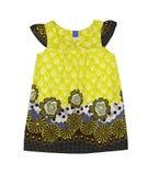 Gelbes Kleid. Lokalisiert. Lizenzfreies Stockfoto