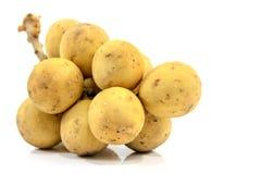 Gelbes langes kong, thailändische Frucht Stockbilder