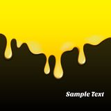 Gelbes Ölfarbemuster Stockbild