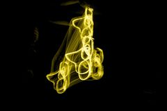 Gelbes Licht-Kunst Stockfoto