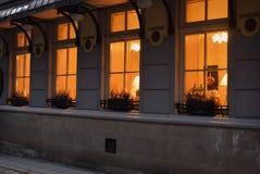 Gelbes Licht vom Fenster Stockbild
