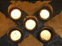 Gelbes Lichtsignal Lizenzfreies Stockfoto