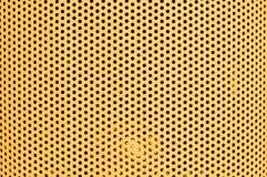 Gelbes Lochmuster horizontal Lizenzfreies Stockbild