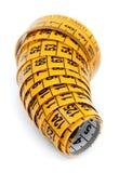 Gelbes messendes Band Stockfoto