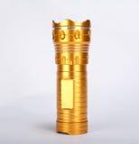 Gelbes Metall der Taschenlampen-Fackel stockbild