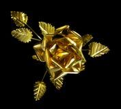 Gelbes Metall Rose Lizenzfreies Stockbild