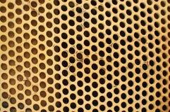 Gelbes Metallrasterfeld Stockbilder