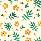 Gelbes mit BlumenAquarell Stockbild