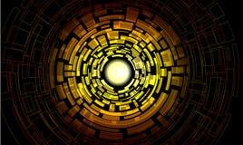 Gelbes Mittellabyrinth mit der Mehrfachverbindungsstelle erschwert  Stockfotos