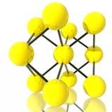 Gelbes Molekül Stockbild