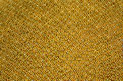 Gelbes Mosaik Hintergrund Stockfotografie