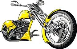 Gelbes Motorrad lizenzfreie stockbilder