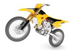 Gelbes Motorrad lokalisiert Stockfotos