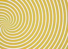 Gelbes multispiral stock abbildung