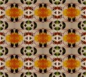 Gelbes Muster der Weinlese Lizenzfreie Stockfotografie
