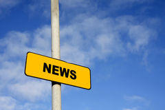 Gelbes Nachrichtenzeichen Stockbilder