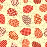 Gelbes nahtloses Muster Ostern. Stockbilder