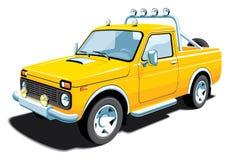Gelbes nicht für den Straßenverkehr Fahrzeug Stockbild