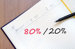 Gelbes Notizblock-Prozent-Konzept Lizenzfreie Stockfotos