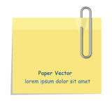 Gelbes Papier Lizenzfreie Stockbilder