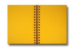 Gelbes Papiernotizbuch Lizenzfreie Stockfotos