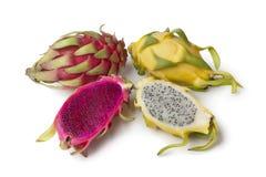 Gelbes Pitaya und Costa Rica Pitaya Lizenzfreie Stockfotografie
