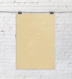 Gelbes Plakat Stockfotografie